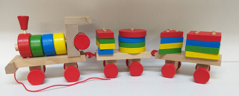 PULL ALONG TRAIN SHAPE SET