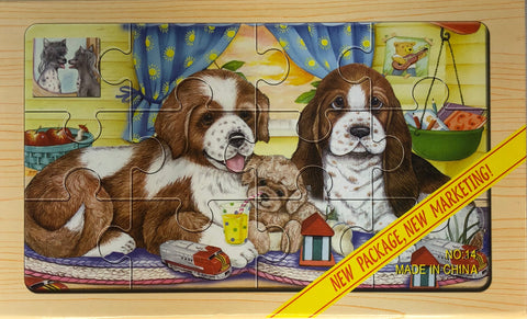 12PC PUZZLE CASE-PUPPIES