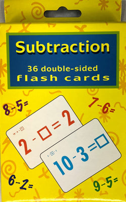 SUBTRACTION FLASH CARDS (out of stock)