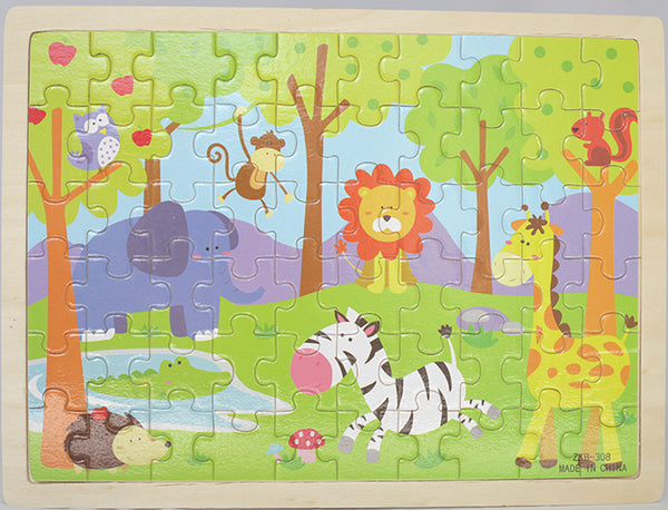 60PC JUNGLE PUZZLE