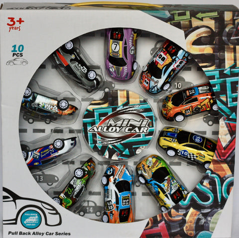METAL CAR SET-10PC