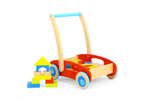 BABY WALKER WITH BLOCKS-TOOKY
