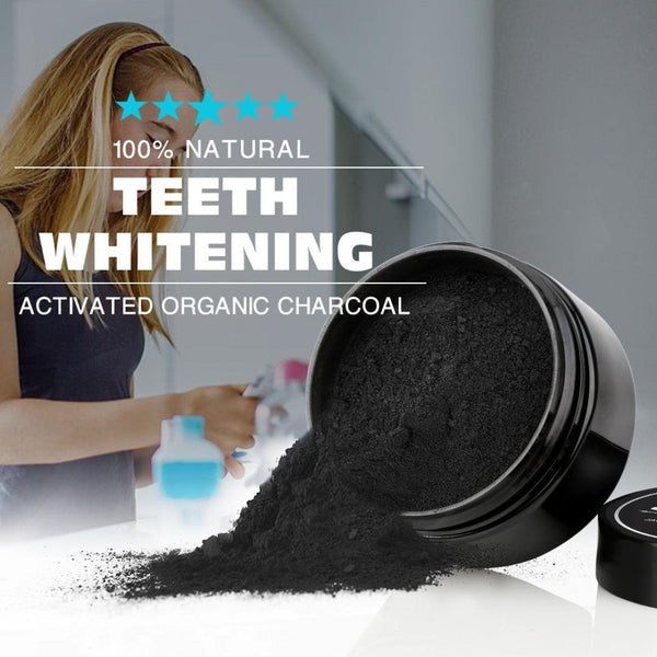 100% Natural Charcoal Tooth Whitening Toothpaste Powder