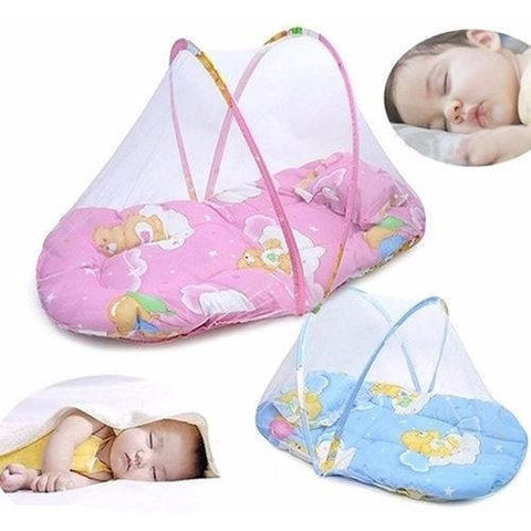 Folding Travel Bassinet - 100% Cotton Foldable Portable Baby Cribs 0-3 Years  Mosquito Net Sleep Travel Bed