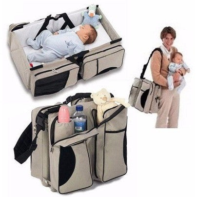 Folding Travel Bassinet - Portable Newborn Baby Bed Folding Travel Bassinet Carrycot Infant Crib Cot Bag 3 In 1 Mummy Maternity Diaper Bag Change Station