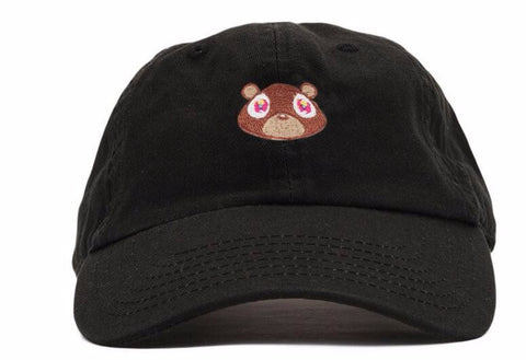 "Dad Hats - ""Kanye's Graduation Album Bear"" Dad Hat~ 4 Colors"