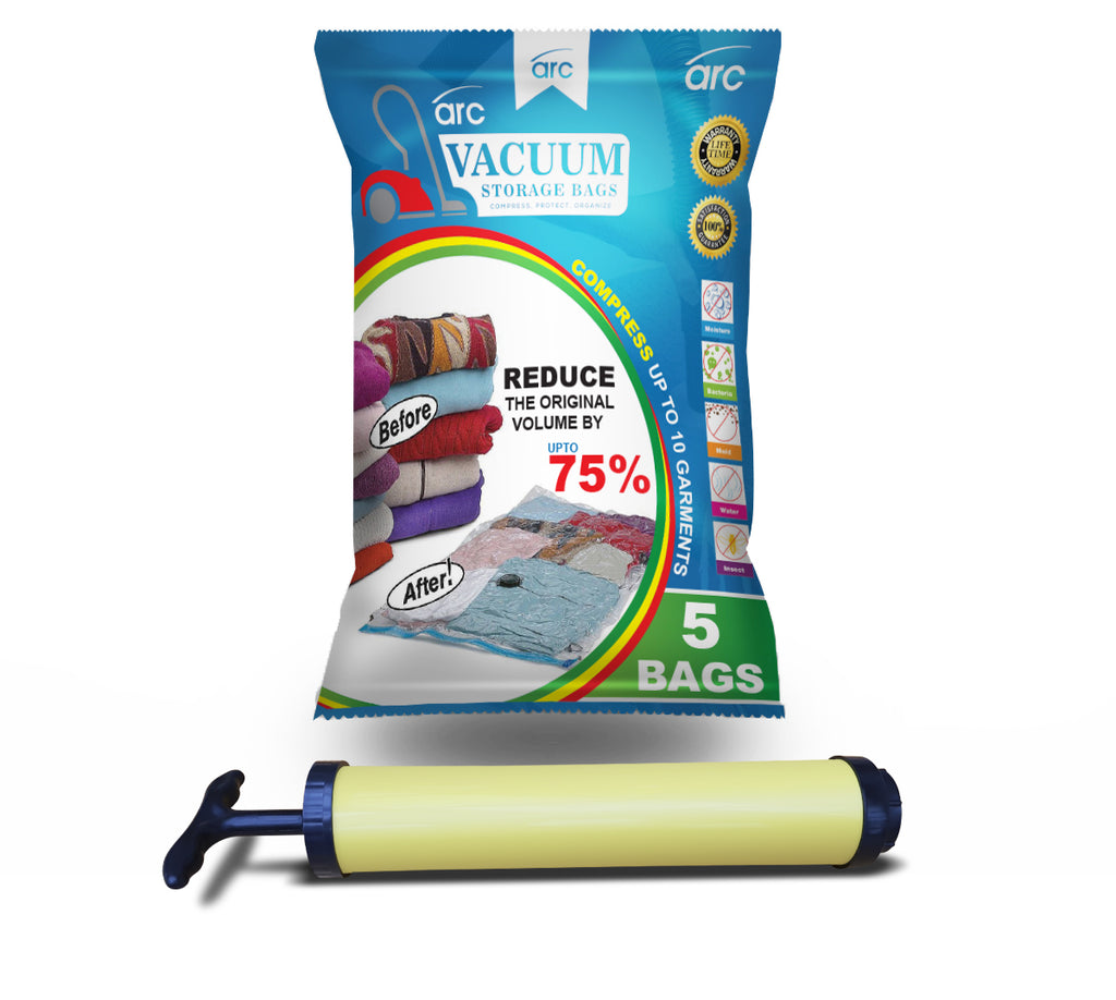 Arc Premier Vacuum Storage Bags With Free Hand Pump