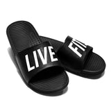 Live Fit. Slides Black - Ludus Athleisure