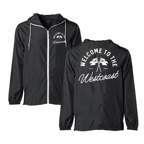 County Windbreaker Black/White - Ludus Athleisure