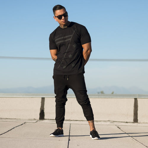 Live Fit Alliance Tee Black - Ludus Athleisure