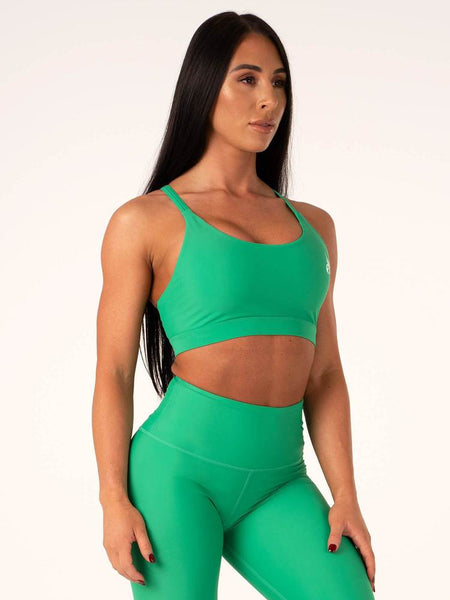 Palm Springs Sports Bra Green - Ludus Athleisure