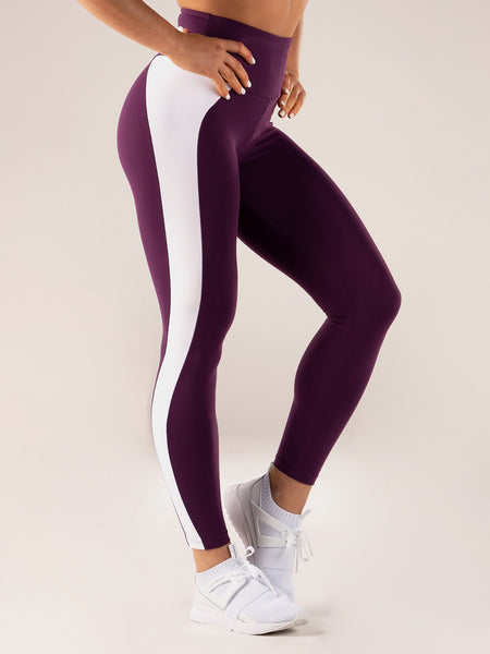 Queen High Waisted Leggings - Purple - Ludus Athleisure