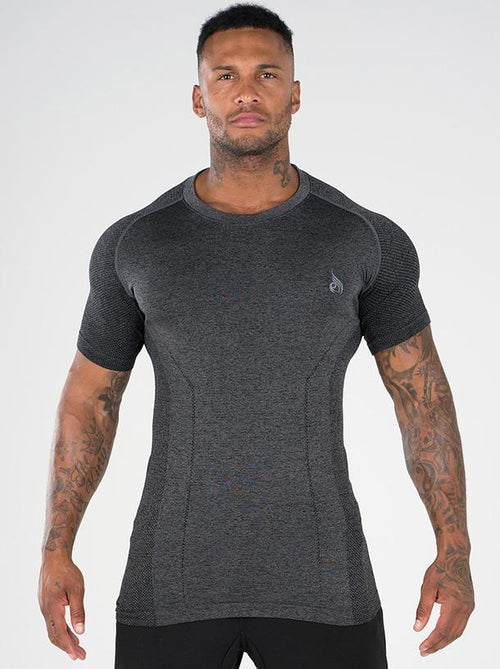 Seamless T-Shirt Charcoal Marl - Ludus Athleisure