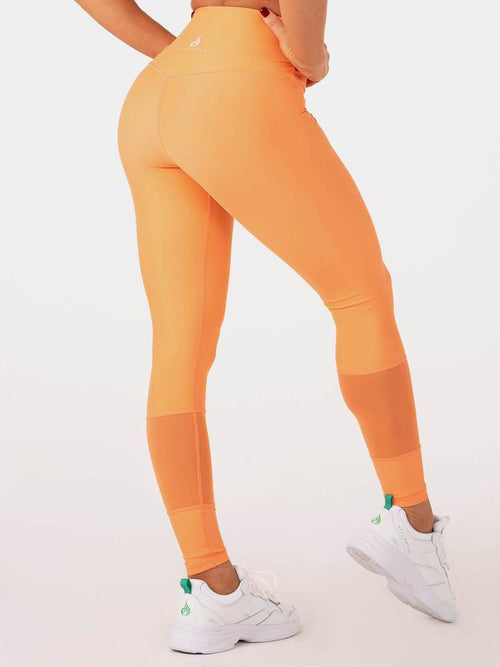 Palm Springs High Waisted Leggings Orange - Ludus Athleisure