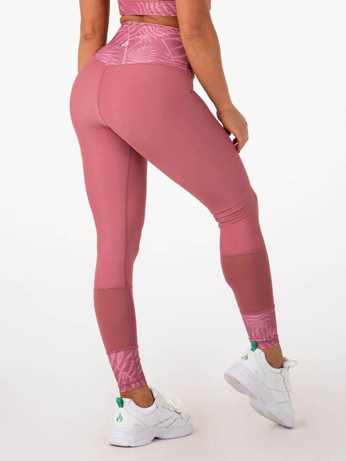 Palm Springs High Waisted Leggings Pink - Ludus Athleisure