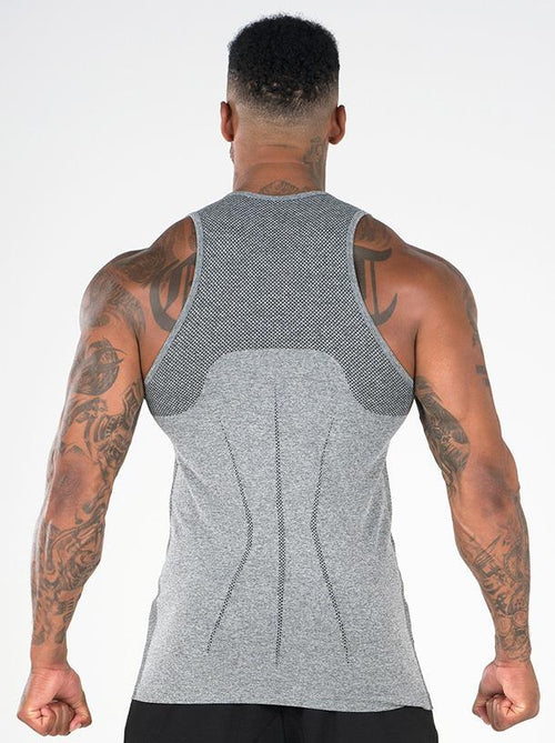 Seamless Tank Light Grey Marl - Ludus Athleisure