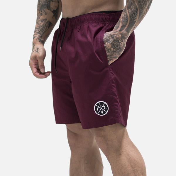 Pacific Shorts Burgundy - Ludus Athleisure