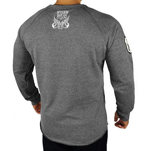 Men's Crew Neck Charcoal - Ludus Athleisure