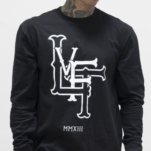 Live Fit Forever Long Sleeve Black - Ludus Athleisure