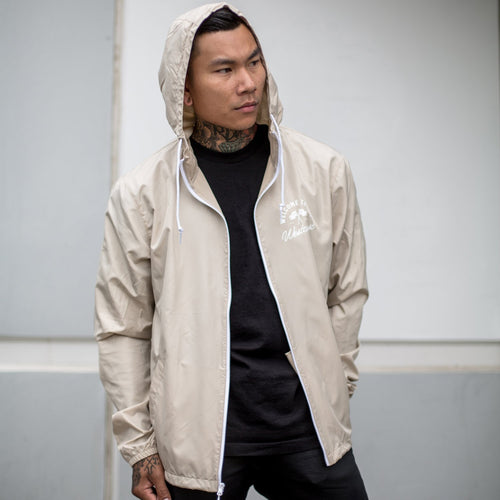 County Windbreaker Tan/White - Ludus Athleisure
