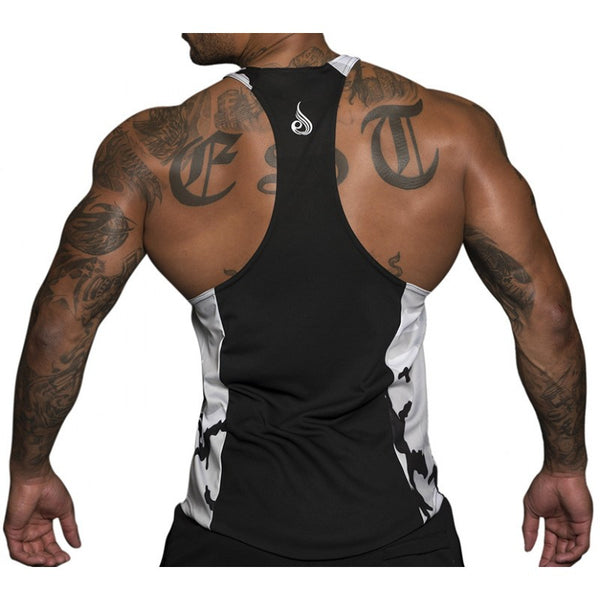 Commando Mesh T-Back White - Ludus Athleisure