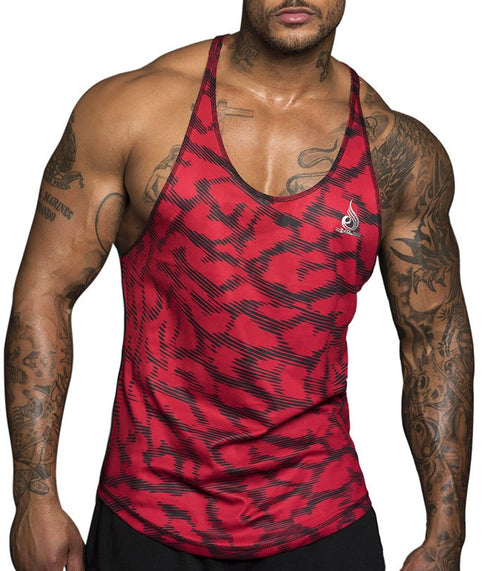 Hype Mesh T-Back Red - Ludus Athleisure