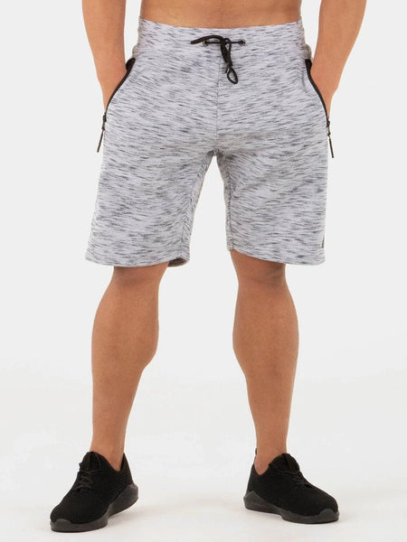 Static Fleece Track Shorts Grey - Ludus Athleisure