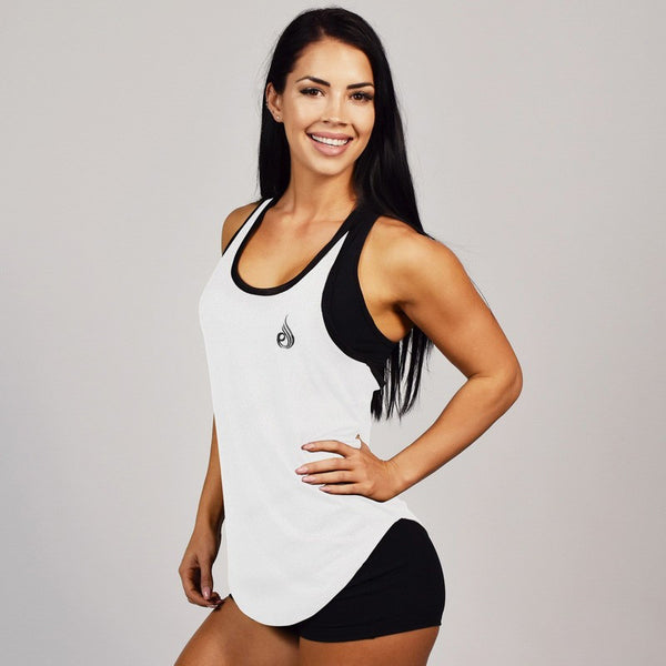 Ladies Flight T-Back White - Ludus Athleisure