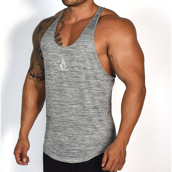 T-Back Grey Marl - Ludus Athleisure