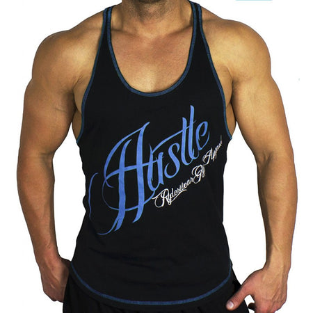 Hype Mesh T-Back Blue