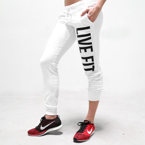 Original Womens Jogger Sweat Pants White - Ludus Athleisure