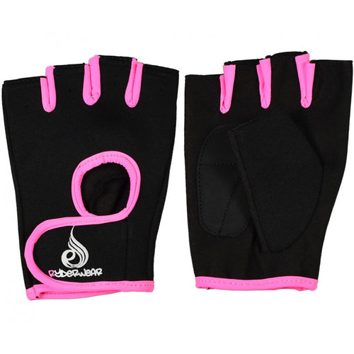 Ladies Fitness Gloves Black/Pink - Ludus Athleisure
