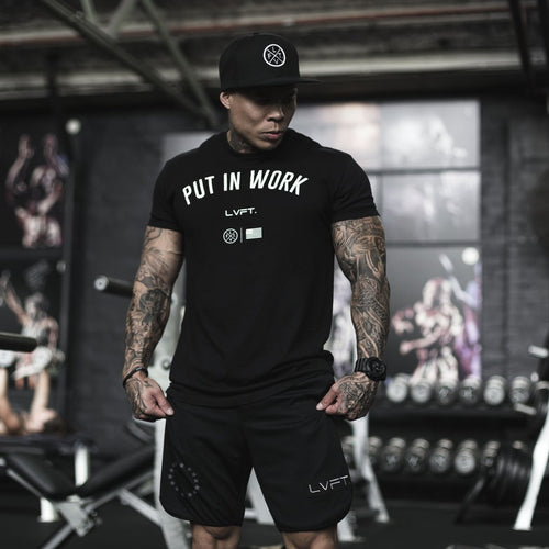 Put In Work Tee Black - Ludus Athleisure