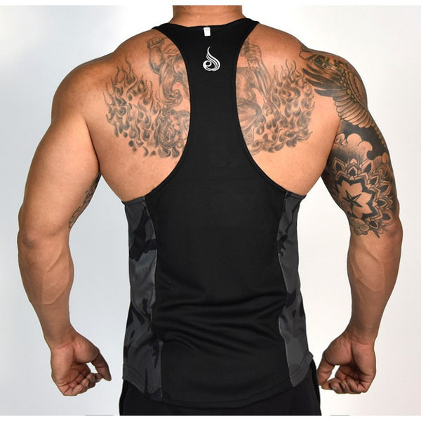 Commando Mesh T-Back Black - Ludus Athleisure