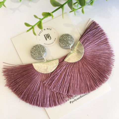 Copy of Silver Sparkle Fan Tassel (w)