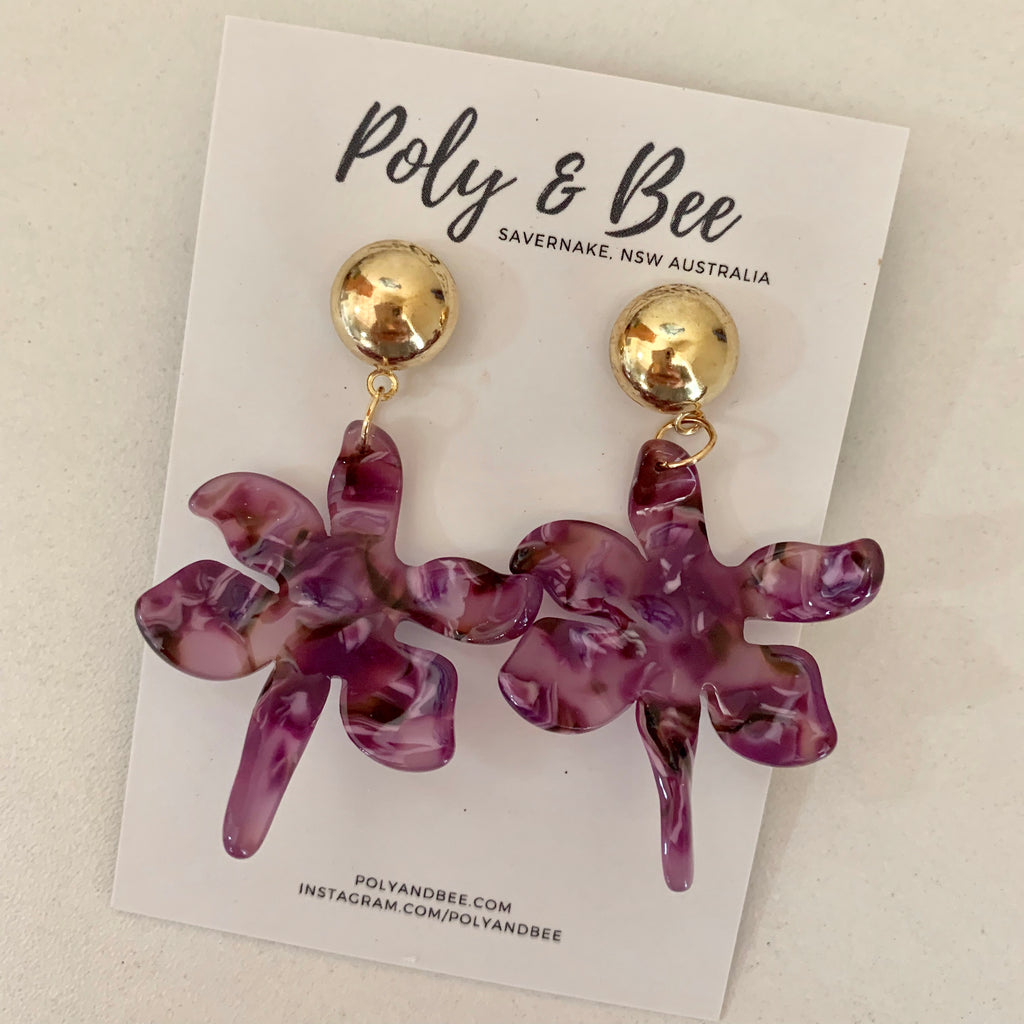 Acrylic 'Flora' Statement Earrings