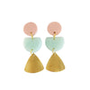 Raw Brass Drop Statement Earring