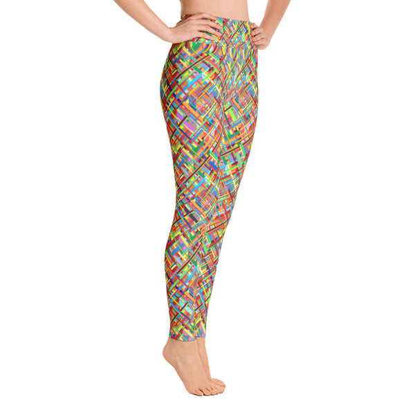 Colourful Chaos Yoga Leggings