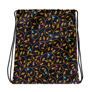 A Nod To Nouveau Drawstring bag