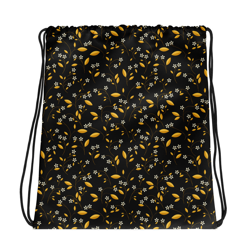 Moonlit Bloomage Drawstring bag