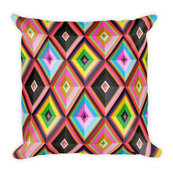 Colourful Rhombi Pillow