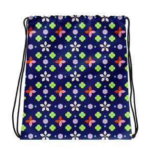 Flower Head Arrangement Drawstring bag