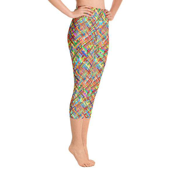 Colourful Chaos Yoga Capri Leggings