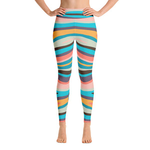 Zebra Paint By Numbers Yoga Leggings (Alt Colours)