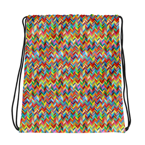 Chevronic Rainbow Drawstring bag