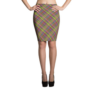 Untidy Weave Pencil Skirt (Alt Colours)