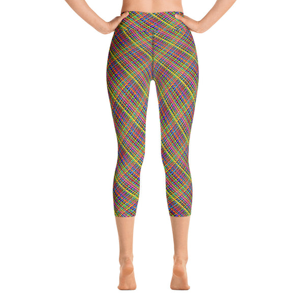 Untidy Weave Yoga Capri Leggings (Alt Colours)