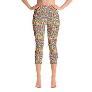 Chevronic Rainbow Yoga Capri Leggings