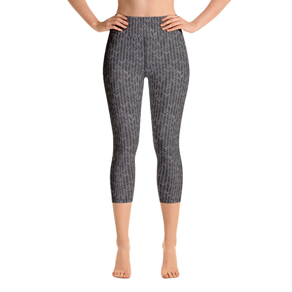 Monochrome Yoga Capri Leggings