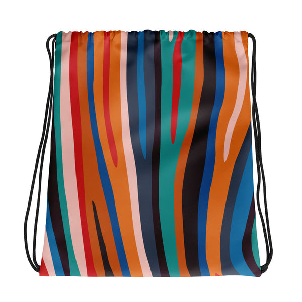 Zebra Paint By Numbers Drawstring bag (Alt Colours)